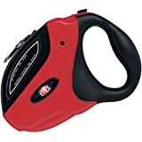 Dog Leash Retractable [FREE Waste Bags] Premium Quality Auto Flexible Dog Leash For Small Medium & Large Pet Puppy - Best Retractable Dog Leash Traction for Walking & Running (Red & Black)16 FT Rope