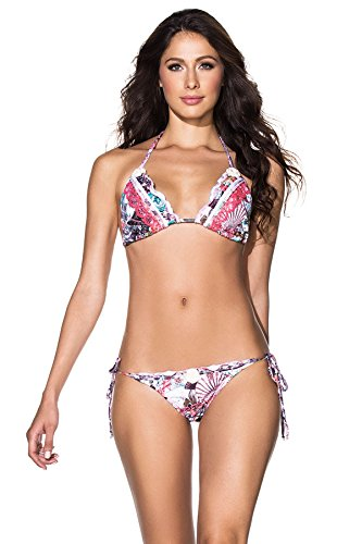 Agua Bendita Women's The Bouquet Sliding Triangle Bikini Top The Bouquet S