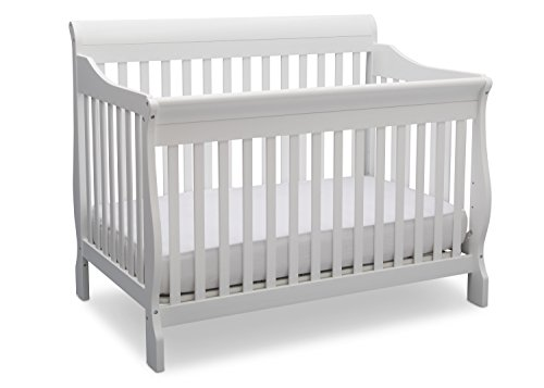 Delta Children Canton 4- in-1 Convertible Crib, Bianca,White (Hardwood Daybed)