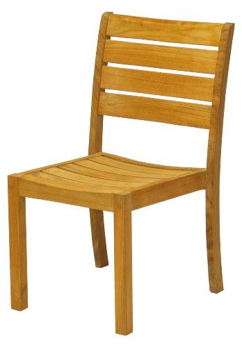 2 Adirondack Dining Chairs (Three Birds Casual Sedona Stacking Side Chairs, Teak, Set of 2)