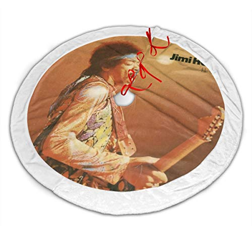 Jimi Hendrix Isle of Wight Christmas Decoration,Christmas Tree Skirt Decoration,Christmas Holiday Party Accessories (Jimi Hendrix Red House Isle Of Wight)