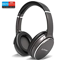 Active Noise Cancelling Bluetooth Headphones, LIFEBEE Wireless Headset with Mic Hi-Fi Sound Deep Bass, Comfortable Protein Earpads, Quick Charge, 12 Hours Playtime for Travel Work TV PC Cellphone