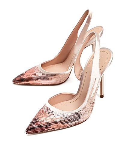 Zara Donna Scarpa tacco aperta sul tallone paillettes 5801/201