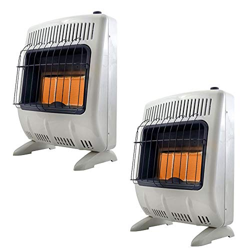 Vent Free Radiant 20# Propane Indoor Outdoor Space Heater (2 Pack) ()