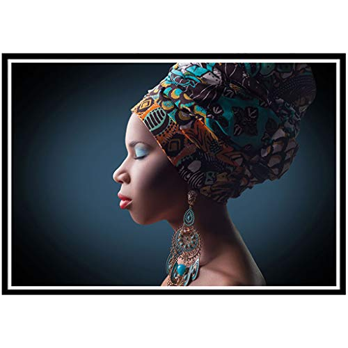 New Arrival!DEESEE(TM)5D Embroidery Paintings Rhinestone Pasted DIY Diamond Painting Cross Stitch Full Diamond Africa Women (A)