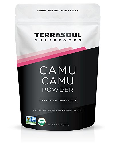 Terrasoul Superfoods Camu Camu Powder (Organic), 3.5 Ounce]()