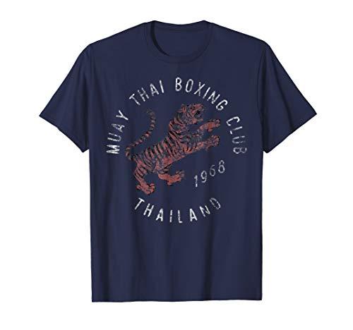 Muay Thai Boxing Club Thailand Tiger Vintage Graphic ()
