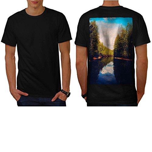 Forest River Flow Park Lake View Men NEW L T-shirt Back | Wellcoda