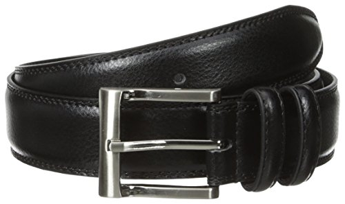 Florsheim Men's Pebble Grain Leather Belt 32MM, Black, 36 from Florsheim