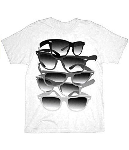 UV Solar Gradient Bans Color Transforming Sunglasses White Adult T-shirt - Store Bans