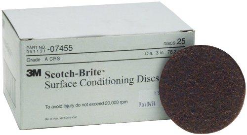 3M 07455 Scotch-Brite Discs 3'' Coarse-Brown