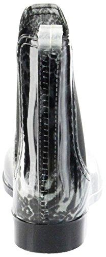 ConWay Gummi-Stiefelette Schwarz Regenstiefel Damen Stiefelette Schuhe Iris Schwarz