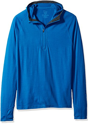 Ibex outdoor Clothing Merino Wool Indie Hoody, Poseidon, Large by Ibex (Image #1)