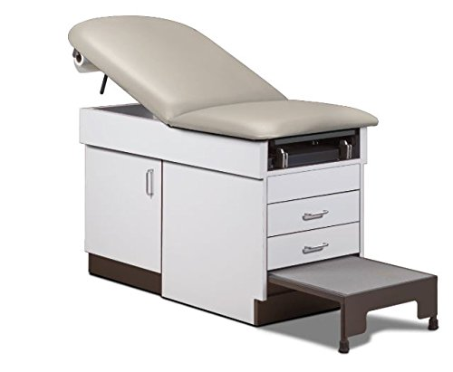 MSEC by Clinton, Family Practice Exam Table with Integrated Step Stool - Cream/Country Mist, 72