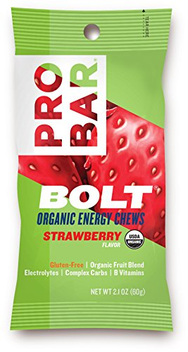 Price comparison product image PROBAR - BOLT Organic Energy Chews - Strawberry - USDA Organic, Gluten-Free, Superfruit Blend, Electrolytes, B Vitamins - Pack of 12