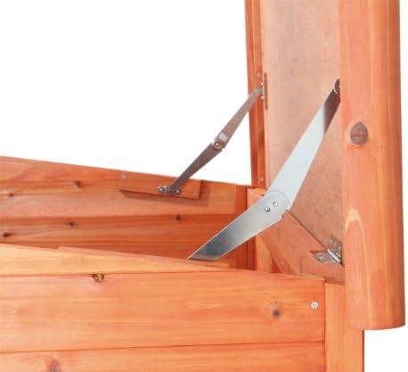 Trixie 39551 Niche à Toit Plat Natura, S-M: 85 × 58 × 60 cm