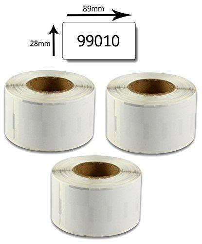 Bubprint 3 etichette compatibile per Dymo 99010 per Labelwriter 310 320 330 400 Duo 450 Turbo Twin Turbo SE 450