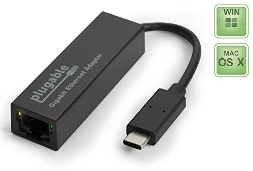 Plugable USBC-E1000 USB Type-C 1000 Mbit/s Network Adapter