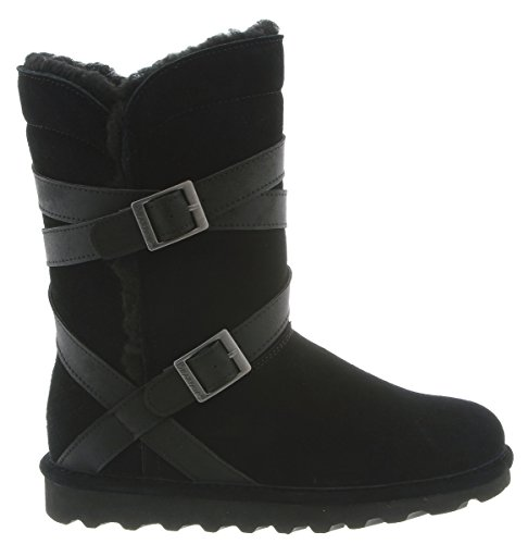 BEARPAW Womens Shelby Fashion Boot, Black, M9 M US