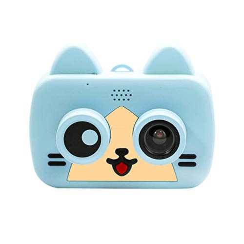 (Nesee Kid Mini Cartoon WiFi Camera 1080P Rechargeable Digital Child Camcorder for Outdoor,2.0inch LCD Screen,Safety Materials (Blue))