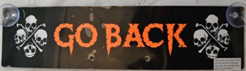 Night Glow Go Back Sign Halloween (Night Glow Go Back Sign)