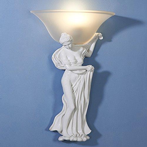 HDMY Baño Europeo Chica Luz de la Pared Iglesia Aplique Resina Creativa Escultura Maria Arte Soporte Luz Pared Linterna...