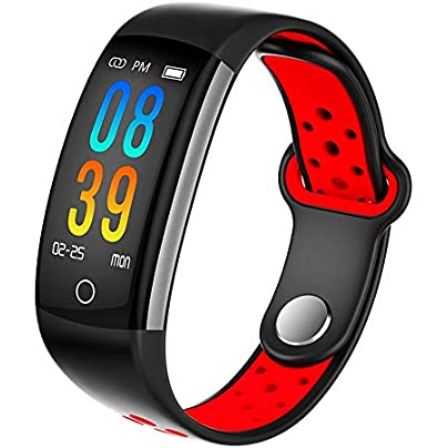 Fitness Tracker Heart Rate Monitor Activity Tracker with IP68 Waterproof Smart Watch with Step Counter Sleep Monitor Wearable Smart Bracelet Wristband for Men Women Estimated Price £30.53 -