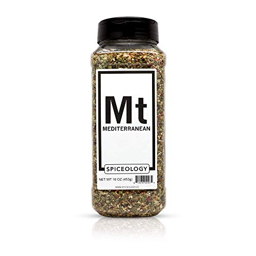 Mediterranean Herb - Mediterranean Spice Blend - Spiceology Greek Herb and Garlic Seasoning -16 ounces