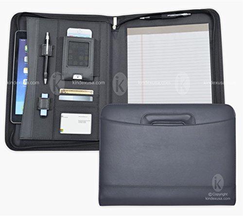 Business Briefcase, Portfolio, 1 inch 3-Ring binder, Zippered Closure , Retractable handle, iPad Case, iPhone holder, USB Drive Holder, Memo pad, Leatherette/Simulated Leather/Vinly Simulated Leather Zippered