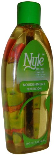 Nyle Naturals Nourishment Hair Oil with Henna & Bringaraja (300, green)
