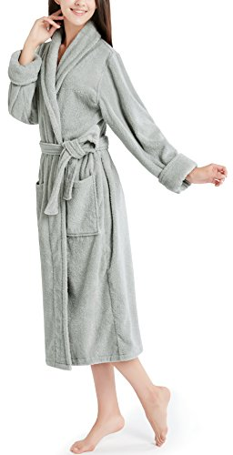 - Ink+Ivy Terry Cloth Robes for Women, 100% Cotton Bath Robe Women's Towel Robe - Taupe Kimono Collar Shower Robe L/XL