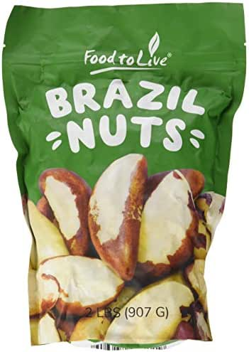 Brazil Nuts, 2 Pounds - Raw, Whole, No Shell, Unsalted, Kosher, Bulk, Shelled Brazilian Nut