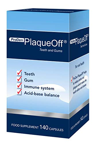 PlaqueOff Teeth Whitening Capsules for Humans, Helps to Reduce Tartar & Plaques, 3.30 Ounce