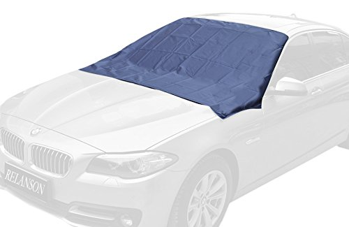 "Magnetic Edges Windshield Snow Cover - Frost Windshield Cover - Snow, Ice, Frost Guard No More Scraping - Door Flaps Windproof Fits Most Car, SUV, Truck, Van with 70""x 54"" (cdy-079)"