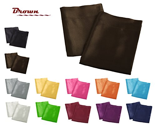 Creative 2 Pieces of Colorful Shiny Satin Queen Size Pillow
