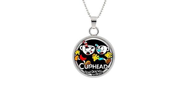 Amazon.com: Collar con colgante de cuphead personaje ...