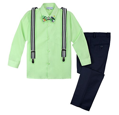 Spring Notion Baby Boys' Halloween Inspired 4-Piece Outfit 04B Nerd - Outfits Halloween Nerd