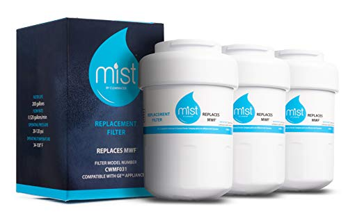 Mist MWF Replacement for GE MWF Smartwater, MWFA, MWFP, GWF, GWFA, Kenmore 9991,46-9991, 469991 Refrigerator Water Filter Replacement 3 Pack