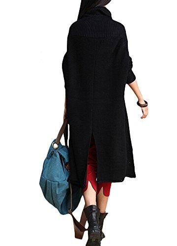 04ddc196cda5a Minibee Women s Turtle Neck Long Sweater Dress Plus Size