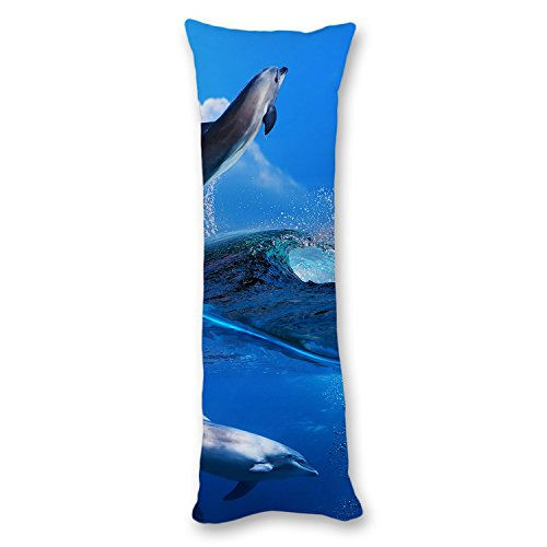 Poieloi Nature Animals Dolphin Painting Body Pillow Covers Cases With Double Sided 20''x54'' by PotteLove (Image #3)