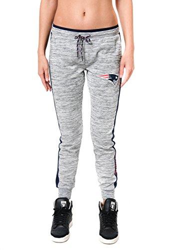 (NFL New England Patriots Women's Jogger Pants Active Basic Fleece Sweatpants, X-Large, Gray)