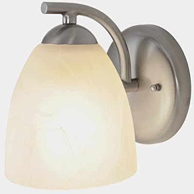 Monument 617631 Contemporary Vanity Fixture, Brushed Nickel, 5 In.