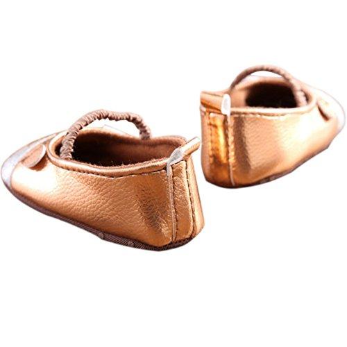 etrack-online bebé niñas Cute ratón Mary Jane zapatos de suela suave antideslizante cuna as the picture Talla:12-18months as the picture
