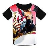 Stzanpt Youth Kids Fortnite Drift Huntress Sledgehammer Graphic Casual Printed T-Shirt Short Sleeve Tees Summer Tee M