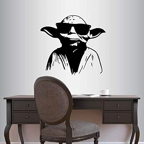 Amazon.com: Pegatina Vinilo Home Decor Pared De Master Yoda ...