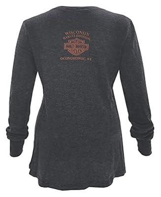 Harley-Davidson Women's Core Custom Long Sleeve Thermal V-Neck Shirt 5T21-HE3R