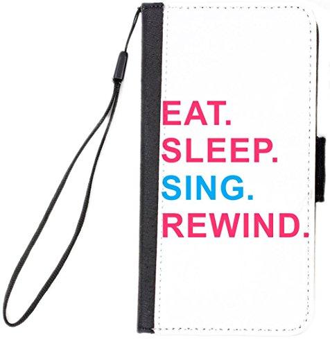 Rikki Knight Eat Sleep Sing Rewind Pink & Blue Design Cel...