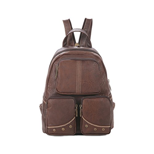 Lycailcy LYC-Lycailcy-80292-5 - Bolso mochila  para mujer Marrón Light Brown(10.2 x 5.5 x 12.2 inches) talla única Dark Brown(10.2 x 5.5 x 12.2 inches)