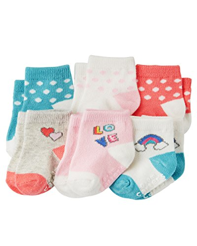 Carter's Baby-Girls Socks, Love, 12-24 Months (Pack of 6)