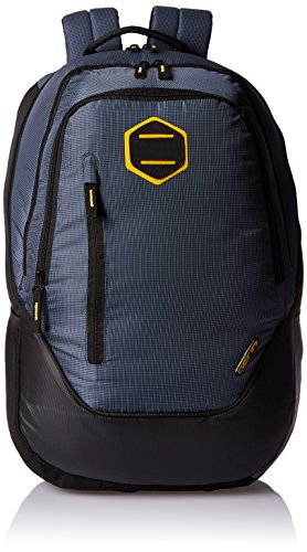 Gear Navy Blue and Yellow Casual Backpack (BKPCAMPS90512)